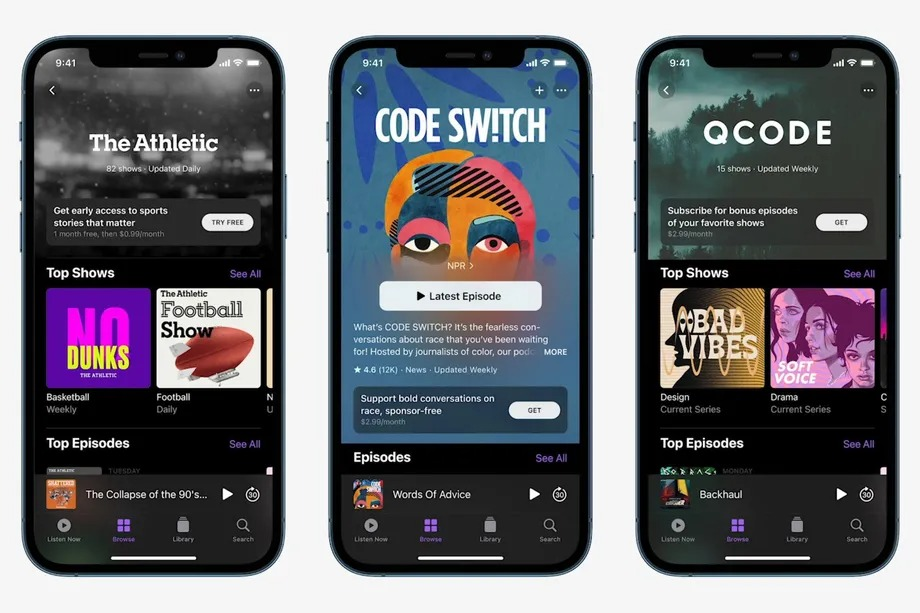 Apple Podcasts launches in-app subscriptions